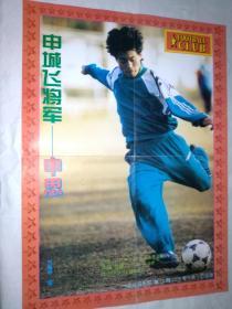 足球明星海报(足球俱乐部1996年)6开双面(96欧洲杯法国队全家福) 申恩