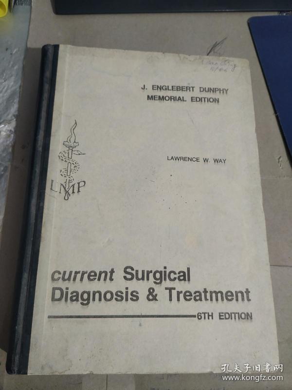 current surgical diagnosis treatment【见图,有破损,不影响阅读】385-1221页