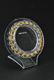 《巴西黄水晶饰品》手串一个 纯天然 单颗黄水晶尺寸:8.8mm 总重量19.91g 。手串周长:18cm