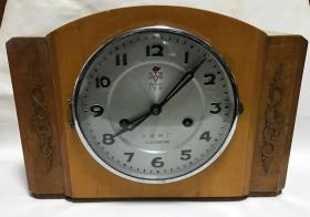 大连火炬老座钟80年代木壳机械座钟15天台钟正常走时