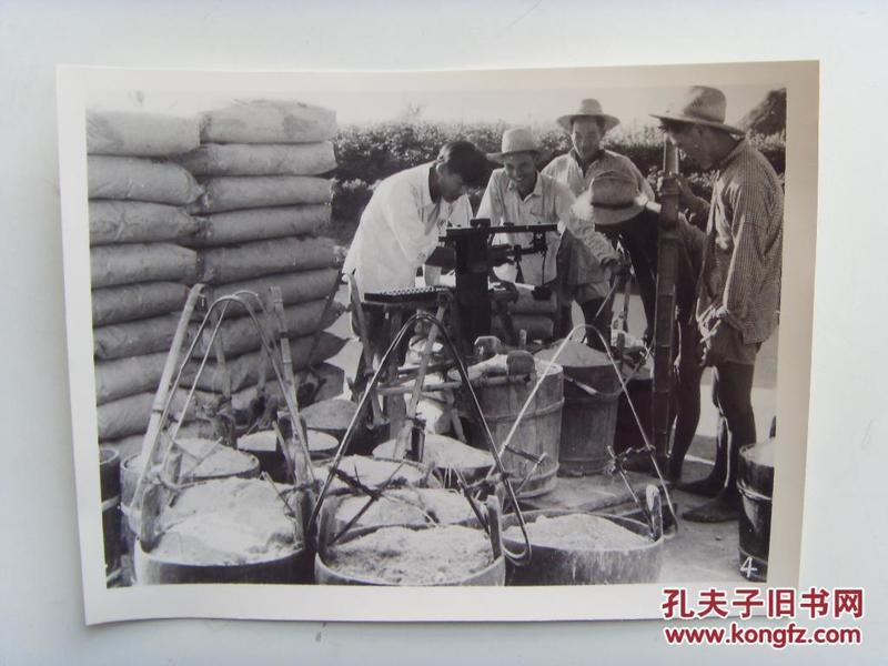 老照片:【※1963年,浙江省慈溪县夹塘公社,社员买化肥※ 】