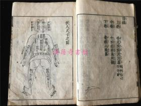 新刊《十四经经络发挥》1册3卷全。版本孔网未见。有元至正作者自序,书中有木刻人体经络穴位图十多幅,刻画细致。写刻体,较初印本。