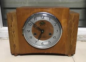 机械老座钟80年代西安产骏马牌老座钟15天座钟怀旧收藏正常走打