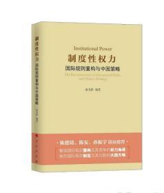 制度性权力-国际规则重构与中国策略
