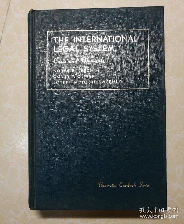 英文原版 THE INTERNATIONAL LEGAL SYATEM  国际法律体系 (有签名)