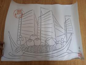 明治时期日本印刷《宝船图》2