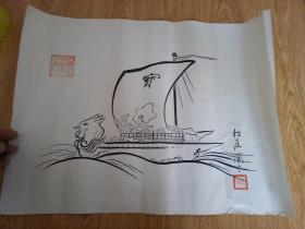 明治时期日本印刷《宝船图》3
