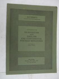 Sothebys  Catalogue of Silhouettes and English and Continental Portrait Miniatures(苏富比欧陆人像缩影目录)