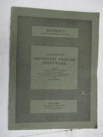 Sothebys  Catalogue of Important English Delftware(苏富比青花瓷目录)