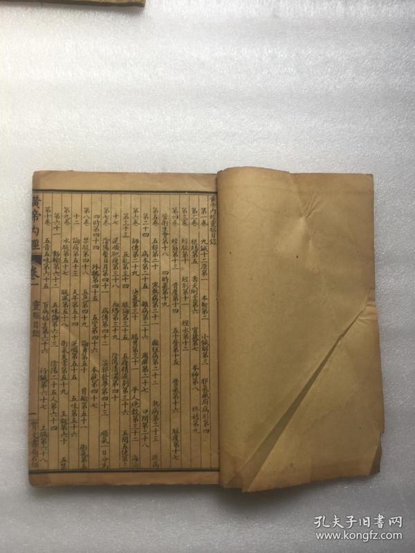 民国线装医书:黄帝内经灵枢(分十二卷+卷末)完整一册