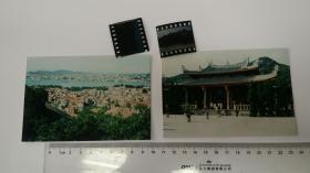 1983年厦门海岸、南普陀大门影像,柯达反转底片彩色2004年冲洗。