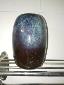 八十年代宜兴宜钧窑冬瓜型罐(作笔筒非常漂亮)