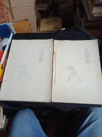 80-90年代复印本    陈式太极拳解释  第一路图解  16开2册