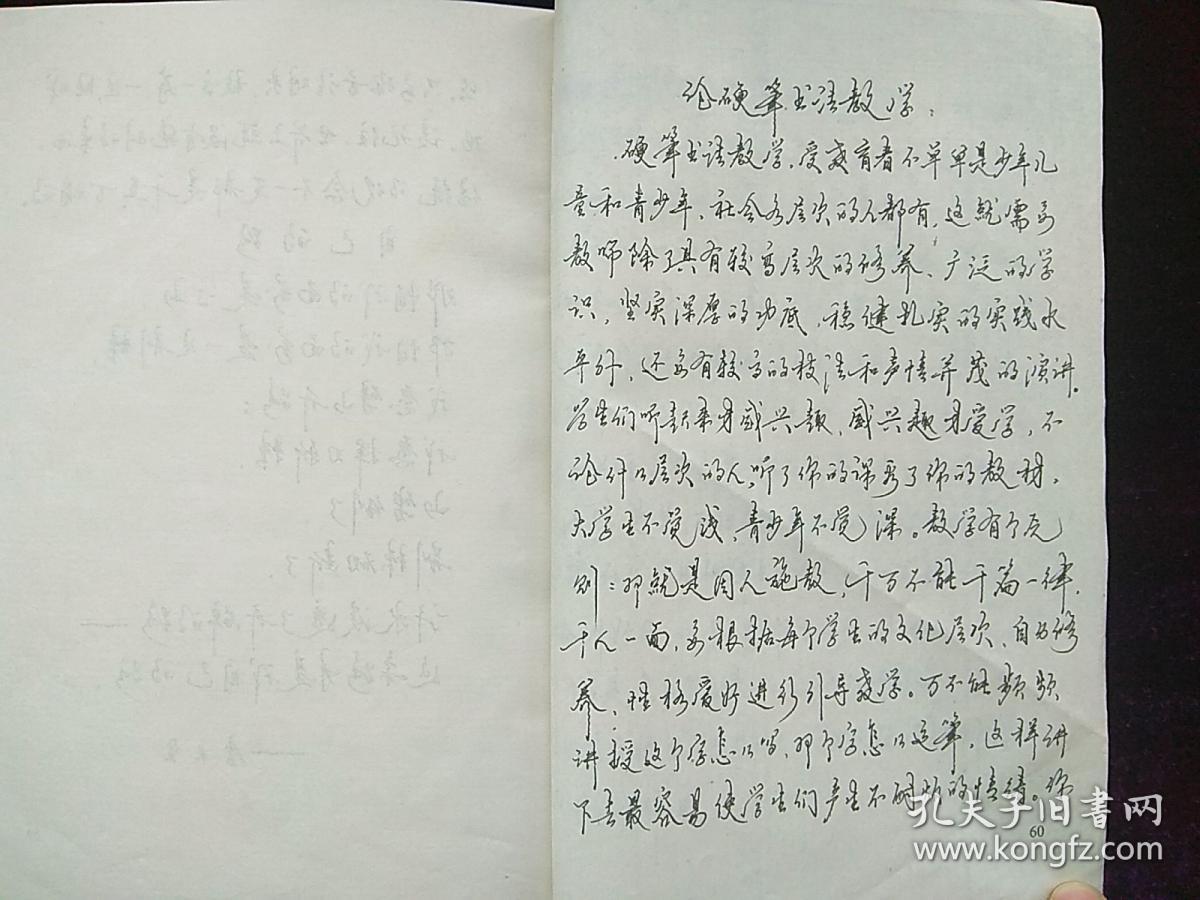 中国字的总体结构规律 李天生全文手写 早期钢笔书法教程字帖图片
