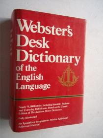 WEBSTER,S DESK DICTIONARY OF THE ENGLISH LANGUAGE