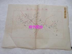 (广东蕉岭)蓝坊公社全图(油印)