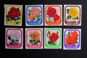 新西兰邮票-----花儿(信销票)