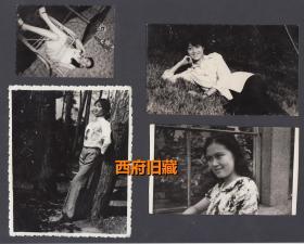 八十年代初,美女老照片4张合售