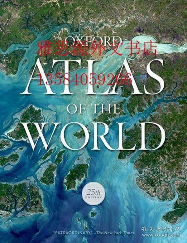 【包邮】Atlas of the World 25th edition