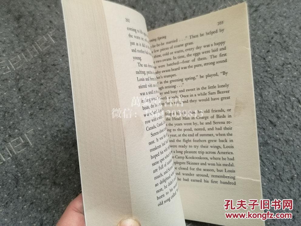【图】英文原版童书thetrumpetoftheswan_不手指情着指的表包图片