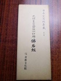 光明皇后发愿一切经佛名经    日本古写经集成 5  书艺文化院