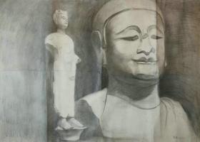 *FWP-名家老素描-人物与雕塑,有画家签名