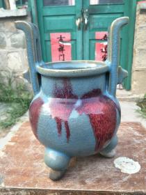 宋代天蓝钧瓷大香炉,非常大气,从农村收来的,!!!!!!!