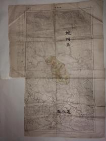 民国时期大同二年伪满洲国吉林省蛟河县(1939年额穆县更名)、敦化县地图