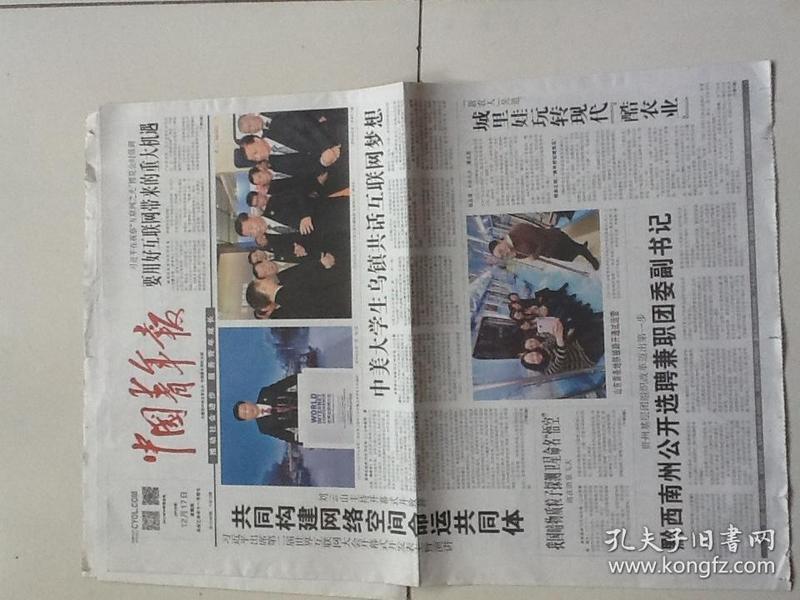 中国青年报(4版包邮)2015.12.17