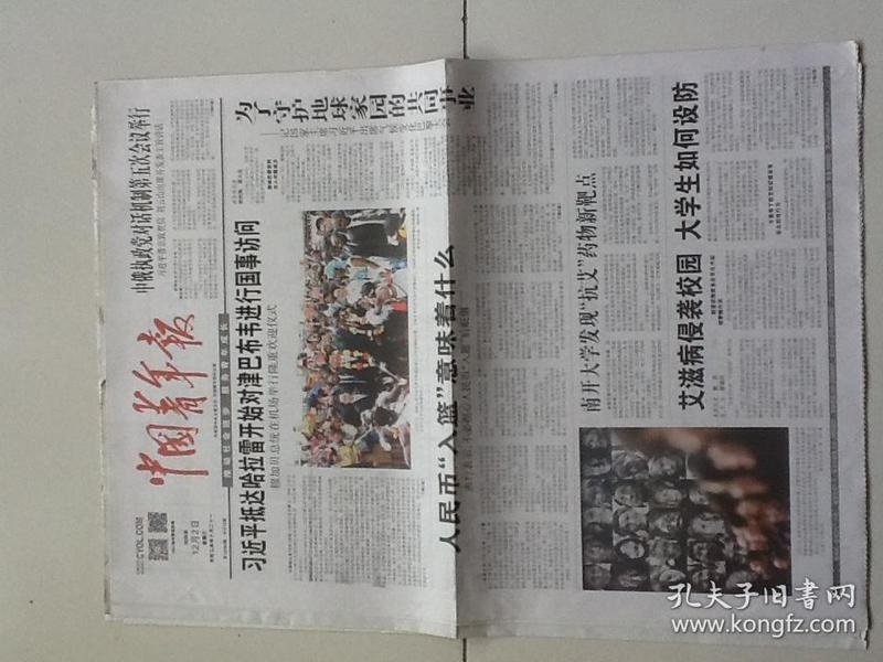 中国青年报(4版包邮)2015.12.2