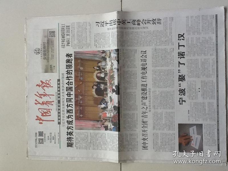 中国青年报(4版包邮)2015.10.23