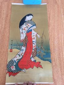 民国日本精印《浮世绘美人图》,浮世绘大师【西川祐信】绘