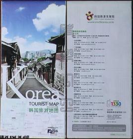 地图-Korea TOURIST MAP韩国旅游地图(中文版)☆