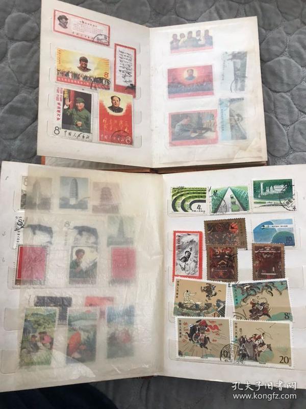 两本老邮票册文革纪特JT