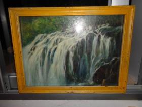 2刚收来的老油画---38厘米*30厘米(卖时候去框)