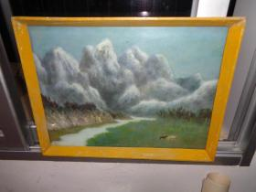 3刚收来的老油画---38厘米*30厘米(卖时候去框)