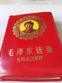 《毛泽东选集引用成语解释》罕见孤品小120开!封面毛主席军功章
