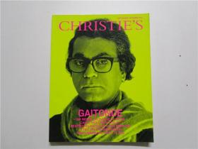 大16开 GAITONDE -ANINDIAN EXCHANGE OF IDEAS  CARLO MOLLINOB CHALET BEATRIZ MILHAZES ON HANS MEMLING  AYALI ON THE BOSPHORUS  PARIS BIENNALE;WHAT TO SEE 佳士得2012拍卖