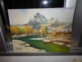 5刚收来的老油画---38厘米*30厘米(卖时候去框)