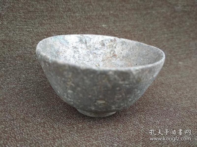 老锡质小碗