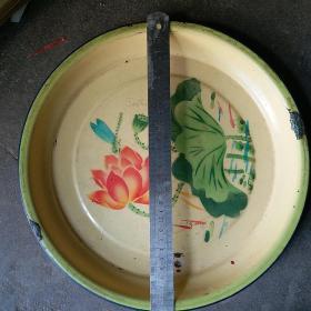 50年代 搪瓷茶盘 直径30厘米 星球牌 石家庄市地方国营搪瓷厂制