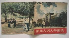 1954年东北画报社出版发行《东北人民大学画集》(庆祝校庆八周年)签赠本