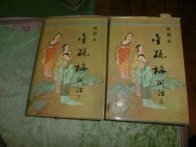 绘图本金瓶梅词话(上下册全)(私藏精装本品佳 1993年1版1印)D5
