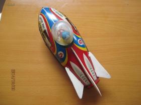 铁皮玩具------发火鱼雷机-------1只(货号837)