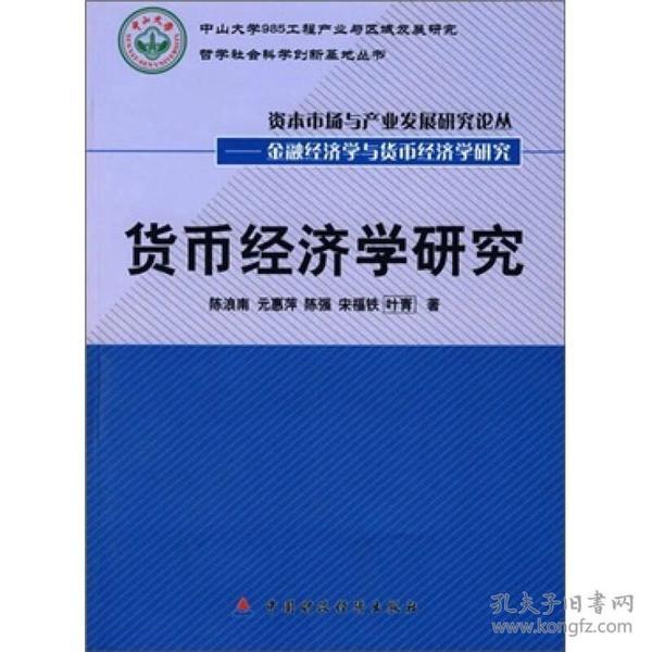 中山大学985工程产业与区域发展研究哲学社会科学创新基地丛书 :货币经济学研究