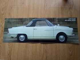 60年代德国NUS汽车印刷图片一张(折叠)