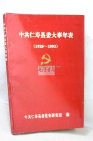 中共仁寿县委大事年表(1928-1993)