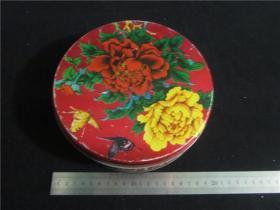 上世纪70-80年代饼干糖果药品茶叶等铁皮盒包装盒民俗老物品~花卉什锦铁皮盒。