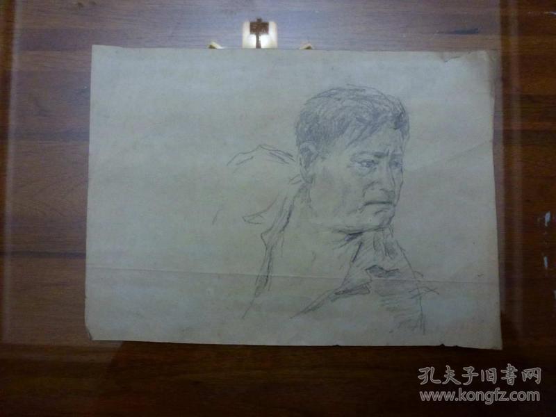 素描人物肖像一张
