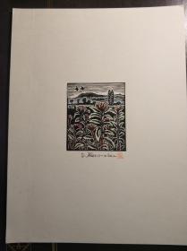 日本早期藏书票一张(Keimoki?)